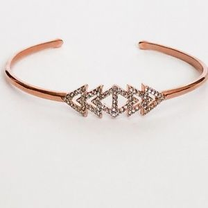 Stella & Dot Pave Triangle Cuff - Rose Gold
